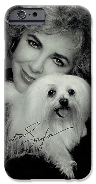 Recently Sold -  - Puppy Digital iPhone Cases - Elizabeth Taylor And Friend iPhone Case by Studio Photo