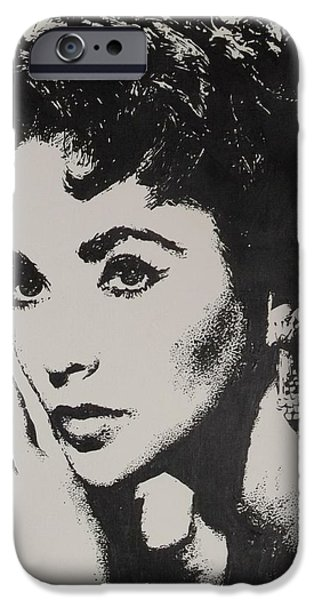 Recently Sold -  - Lips iPhone Cases - Elizabeth Taylor  iPhone Case by Cherise Foster