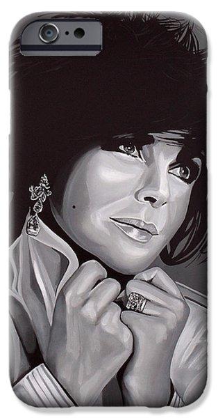 Michael Jackson Art iPhone Cases - Elizabeth Taylor iPhone Case by Paul Meijering