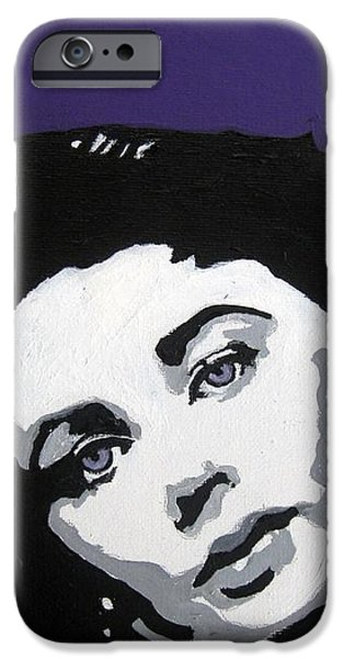 Modernism Mixed Media iPhone Cases - Elizabeth Taylor iPhone Case by Venus