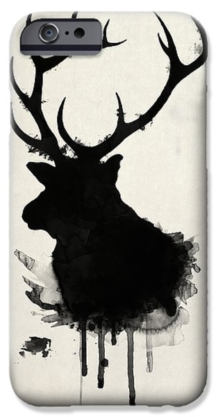 Forest iPhone Cases - Elk iPhone Case by Nicklas Gustafsson