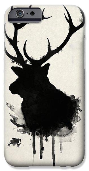 Outdoors Digital Art iPhone Cases - Elk iPhone Case by Nicklas Gustafsson
