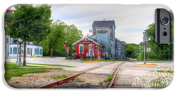 Feed Mill Photographs iPhone Cases - Elkhart Lake Off the Rail and Feed Mill Market iPhone Case by Brook Burling