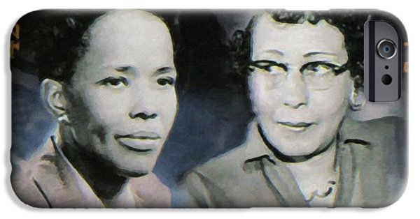 Abolition Paintings iPhone Cases - Ella Baker and Ruby Hurley iPhone Case by Lanjee Chee