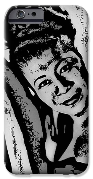 Recently Sold -  - Gray Hair iPhone Cases - Ella Fitzgerald iPhone Case by Tanysha Bennett-Wilson