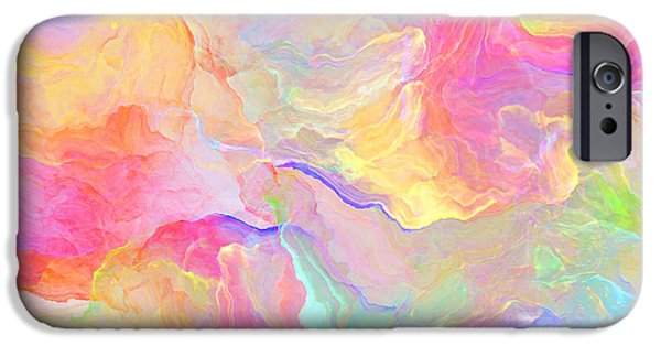 Abstract Digital Digital Art iPhone Cases - Eloquence - Abstract Art iPhone Case by Jaison Cianelli