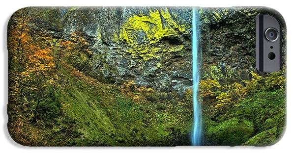 State Parks In Oregon iPhone Cases - Elowah Falls iPhone Case by Adam Jewell