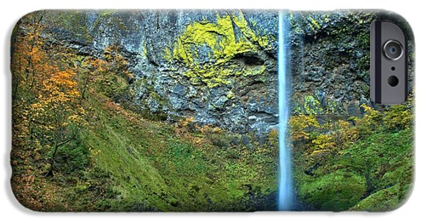 State Parks In Oregon iPhone Cases - Elowah Falls Canyon iPhone Case by Adam Jewell