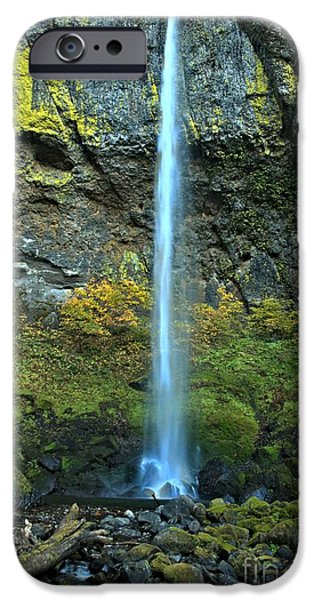 State Parks In Oregon iPhone Cases - Elowah Falls Portrait iPhone Case by Adam Jewell