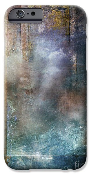 Abstract Digital Art iPhone Cases - Elsewhere iPhone Case by Aimee Stewart