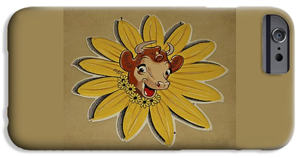 Berry iPhone Cases - Elsie the Borden Cow  iPhone Case by Chris Berry