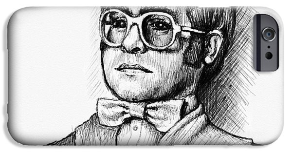 Elton John iPhone Cases - Elton  iPhone Case by Cristophers Dream Artistry
