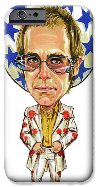 Elton John iPhone Cases - Elton John iPhone Case by Art