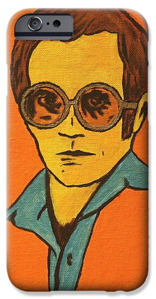 Elton John Paintings iPhone Cases - Elton John iPhone Case by John Hooser