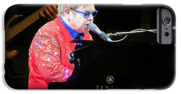 Elton John iPhone Cases - Elton John live iPhone Case by Aaron Martens