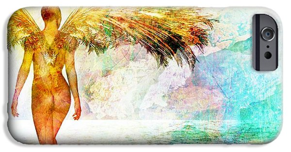Conceptual Mixed Media iPhone Cases - Elusive Dreams Part 3 iPhone Case by Photodream Art