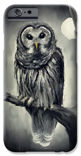 Ga iPhone Cases - Elusive Owl iPhone Case by Lourry Legarde