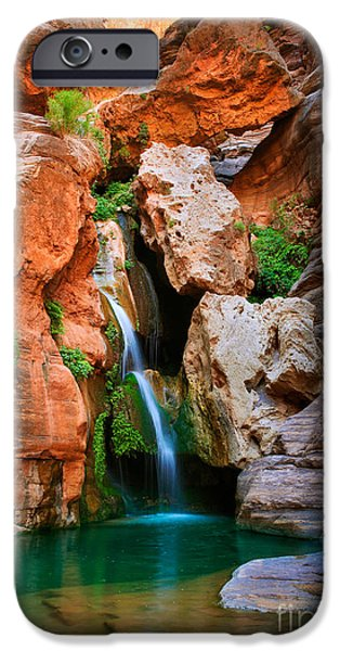 Flowing iPhone Cases - Elves Chasm iPhone Case by Inge Johnsson