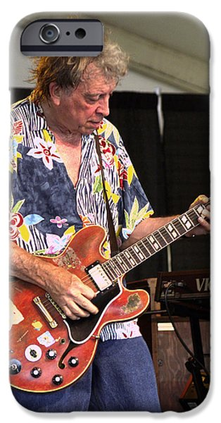 Rock Concerts iPhone Cases - Elvin Bishop iPhone Case by Bill Gallagher