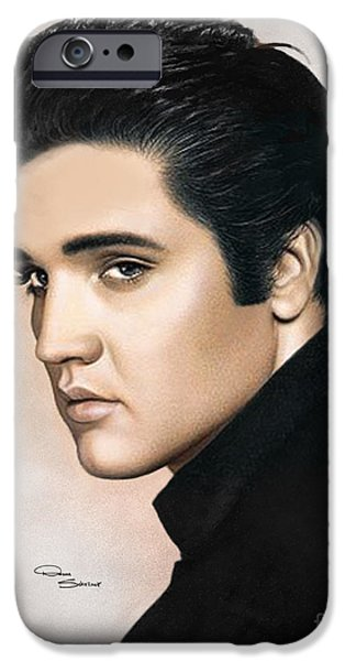 Tennessee Drawings iPhone Cases - Elvis 1968 iPhone Case by Donna  Schellack