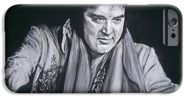 Music Pastels iPhone Cases - Elvis 1977 iPhone Case by Martha Suhocke