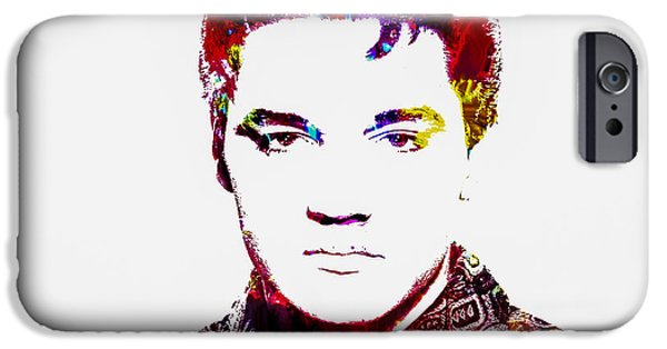 Nashville Tennessee Paintings iPhone Cases - Elvis 3b iPhone Case by Brian Reaves