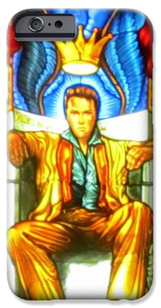 Print Glass iPhone Cases - Elvis iPhone Case by Crystal Loppie