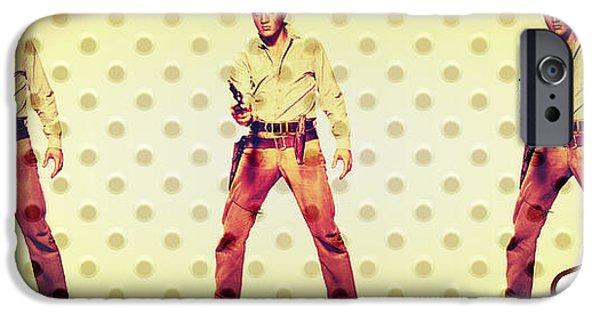 Michelle iPhone Cases - Elvis Elvis Elvis iPhone Case by Michelle Dallocchio