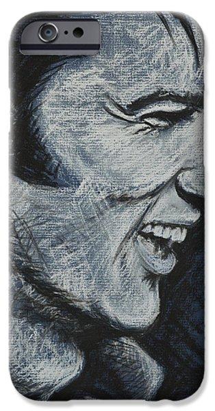Elvis Presley Paintings iPhone Cases - Elvis iPhone Case by Melissa O