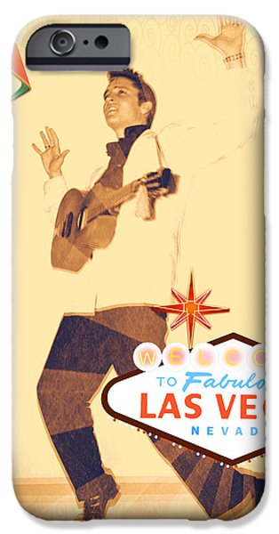 Recently Sold -  - Iraq iPhone Cases - Elvis on TV iPhone Case by Michelle Dallocchio