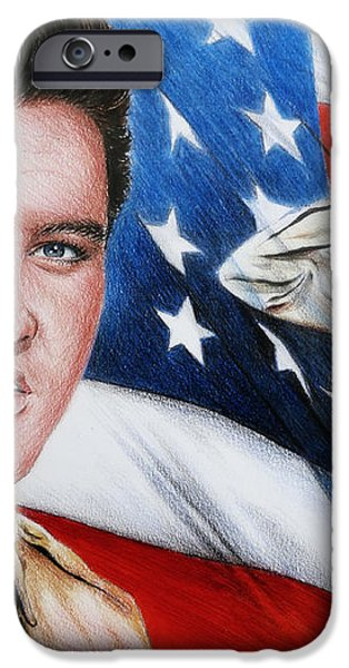 Elvis Patriot  iPhone Case by Andrew Read