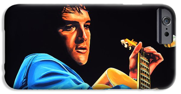 King Of Pop iPhone Cases - Elvis Presley 2 iPhone Case by Paul  Meijering