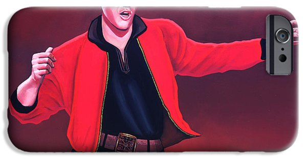King Of Pop iPhone Cases - Elvis Presley 4 iPhone Case by Paul  Meijering