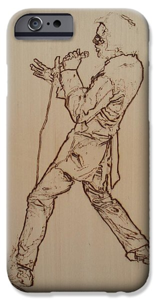 Power Pyrography iPhone Cases - Elvis Presley - If I Can Dream iPhone Case by Sean Connolly