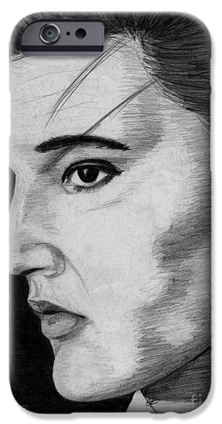Aaron Drawings iPhone Cases - Elvis Presley iPhone Case by J McCombie