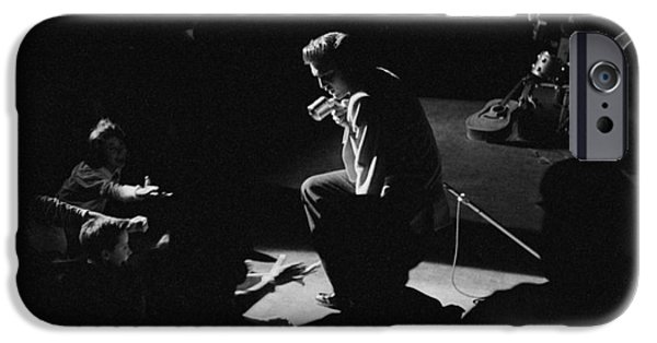 Archives iPhone Cases - Elvis Presley on stage at the Fox Theater in Detroit 1956 iPhone Case by The Phillip Harrington Collection