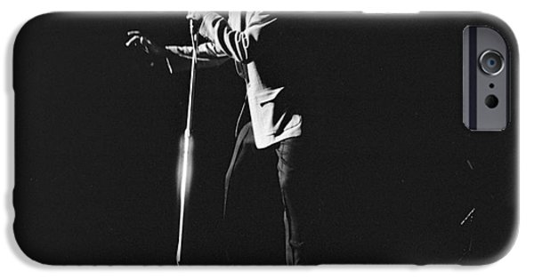 Archives iPhone Cases - Elvis Presley on stage in Detroit 1956 iPhone Case by The Phillip Harrington Collection