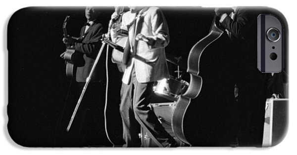 Archives iPhone Cases - Elvis Presley on stage with Scotty Moore and Bill Black 1956 iPhone Case by The Phillip Harrington Collection