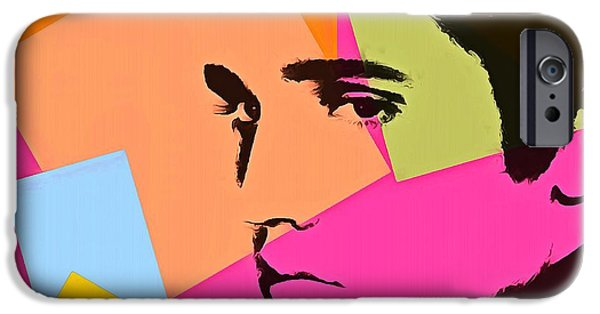 The King Of Pop iPhone Cases - Elvis Presley Pop Art iPhone Case by Dan Sproul