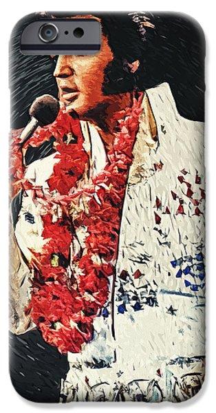 Beatles iPhone Cases - Elvis Presley iPhone Case by Taylan Soyturk