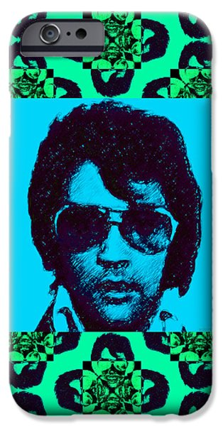 Elvis Presley Window p128 iPhone Case by Wingsdomain Art and Photography