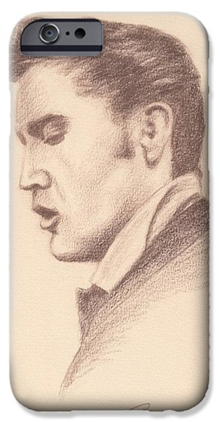 Tennessee Drawings iPhone Cases - Elvis iPhone Case by Reggie Rivera