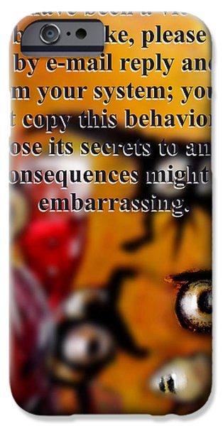 Beauty Mark Digital iPhone Cases - Embarrassing consequences iPhone Case by Marcello Cicchini