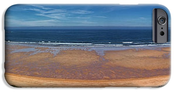 Sand Castles iPhone Cases - Embleton Bay Panorama iPhone Case by David Pringle