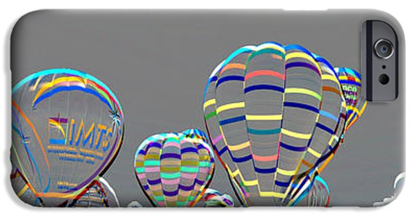 Hot Air Balloon iPhone Cases - Embossed Balloon Fiesta iPhone Case by Gary Mosman