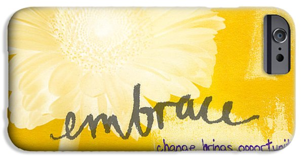 Office iPhone Cases - Embrace Change iPhone Case by Linda Woods