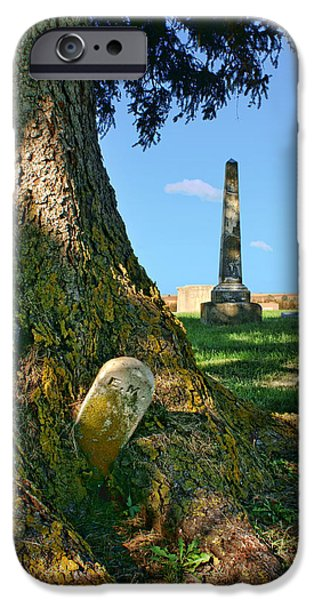 Headstones iPhone Cases - Embraced iPhone Case by Nikolyn McDonald