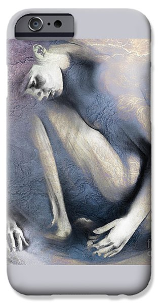 Pastel iPhone Cases - Embryonic II with Mood Texture Square iPhone Case by Paul Davenport