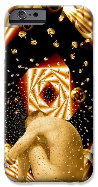 Embryonic Voyage iPhone Case by Kurt Van Wagner