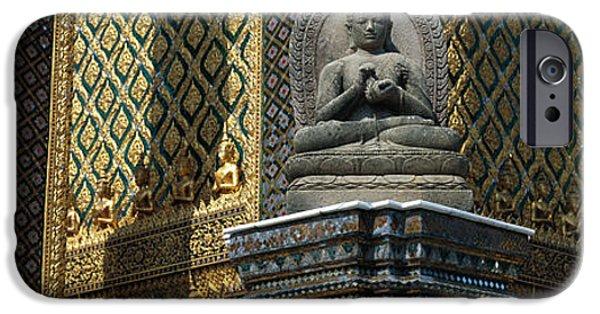 Buddhist iPhone Cases - Emerald Buddha, Wat Phra Keo, Bangkok iPhone Case by Panoramic Images